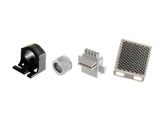 Telco Sensors lisätarvikkeet kiinnityspalat linssin suojat valokenno peilit